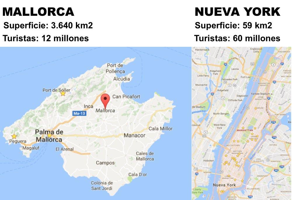 Dice la alcaldesa de Palma @JhardiAurora que sobran turistas en Mallorca. Será porque no conoce Nueva York... https://t.co/hTVcvhm2Pf