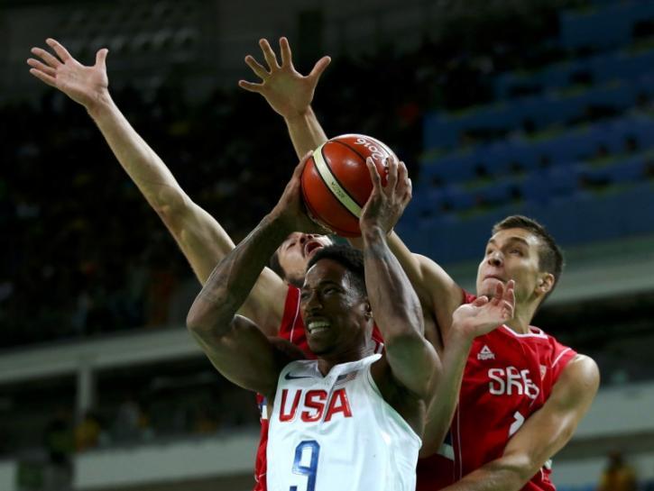 Basketball: U.S. men survive Serb scare to stay unbeaten