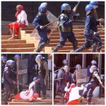 She was minding her business. Heavily armed Zimbabwe Republic Police men kicked her,beat her with baton sticks 👇🏿 https://t.co/MossaXjUb7