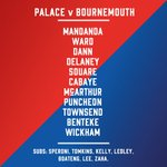 The #CPFC team to take on @afcbournemouth this afternoon.  #CRYBOU https://t.co/GR40MR3gZS