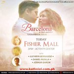 Catch Kathryn Bernardo, Joshua Garcia and Daniel Padill later at Fishermalls activity center! #BarcelonaNationwide… https://t.co/LBIgffo8Yj