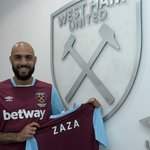 And of course dont forget to follow @WestHamUtds new striker on Twitter @SimoneZaza ⚒ #WelcomeZaza https://t.co/ucQC1TCujc