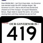 See this one. He called Governor Bello a 419 Governor https://t.co/9OsiA3ZIef