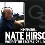 Former Voice of the Eagles Nate Hirsch has passed away. The thoughts of Eagle Nation are with his friends and family https://t.co/y1Ja5GHwYD