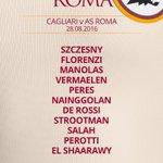 👀#CagliariRoma: tre rientri tra i giallorossi   ✅#Florenzi ✅#Vermaelen ✅#ElShaarawy  https://t.co/4QBhk025zM #ASRoma https://t.co/j0L27OIMHw