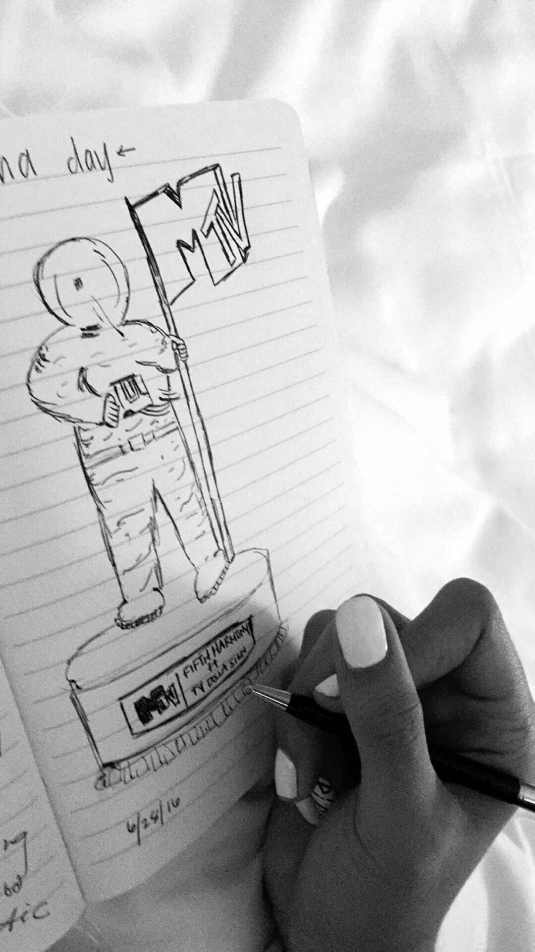 don't judge my doodle #VMAs2016 ��lol positive vibes today https://t.co/j67PIGY5af