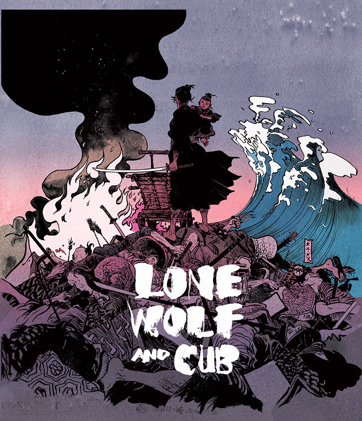 Final stages of Lone Wolf Boxset @Criterion https://t.co/KgAlvtl5m4 here's cover colors by @RaynardFaux w/my logo https://t.co/nbkLYKvCnf
