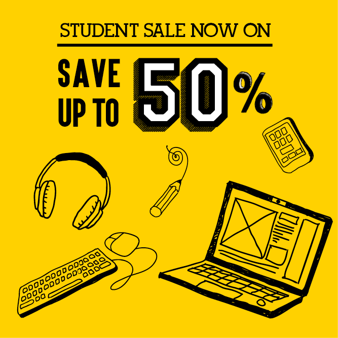 The DID Student Sale kicks off today! Save up to 50% on tech and gadgets! #ItAllStartsHere https://t.co/XW5SzEtAMA https://t.co/2uuOdQ6Cdf