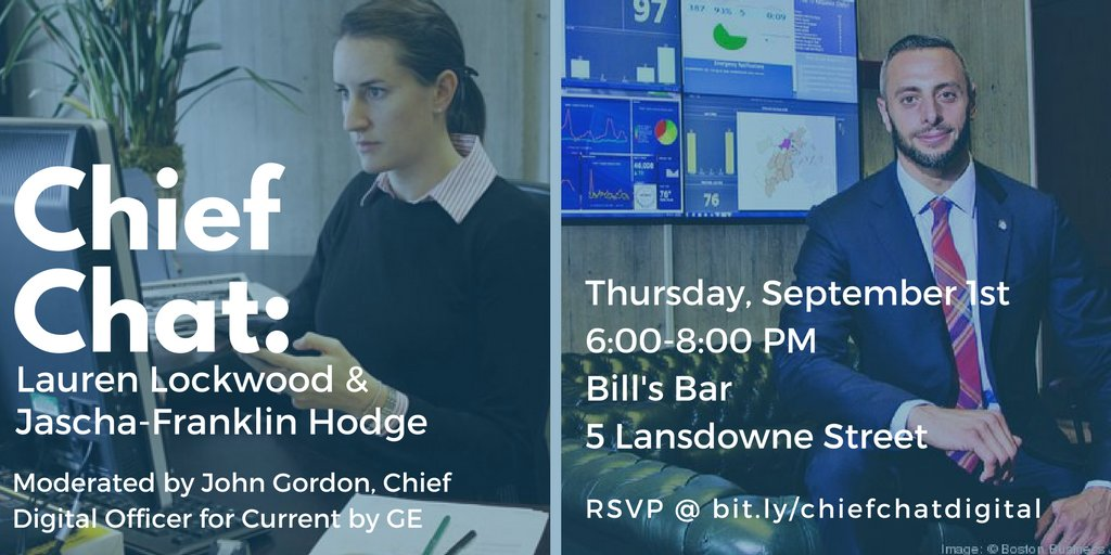Meet @jfh & @lflockwood at #ChiefChat on Boston's digital future, w/ Q&A by @john_b_gordon https://t.co/WQfcg7ftmm https://t.co/7QoqVe3HFt