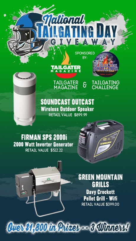 Want a grill? A generator? Outdoor speaker? Get in on our #Giveaway with @TailgatingChall  https://t.co/9OfPTwGiq3 https://t.co/SDoAXyA1SE