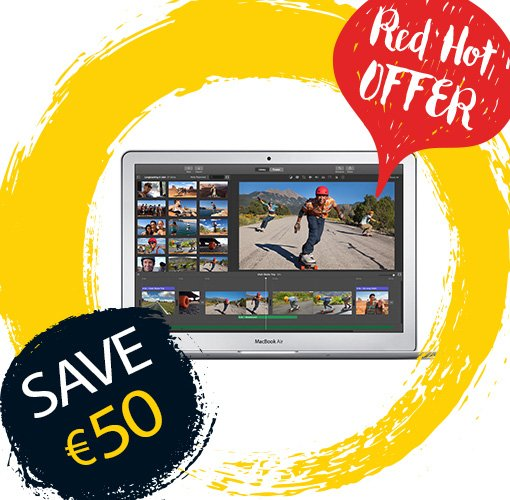 Save €50 on the Macbook Air and get an instant €100 DID voucher! #ItAllStartsHere https://t.co/LiT3xMxLLQ https://t.co/Ru4i0arAQc