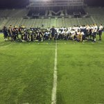 Practice under the lights complete as we get ready for UCONN. #Hunters https://t.co/5X41O0UB6S