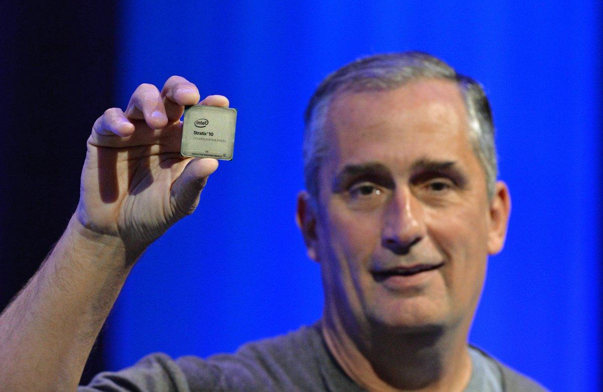 Intel CEO presents vision for #FPGAs & SoC FPGAs. Keynote reply: https://t.co/mlwrKmLfWY #IDF16 https://t.co/4rjmJ86IvP