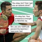 this bromance between lee chong wei & lin dan is hilarious. lol 😂👍🏼 https://t.co/2r3EEC0aeN