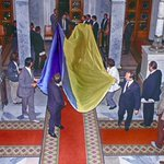 Так внесли флаг в парламент Украины. Киев 24 августа 1991г. Photo Efrem Lukatsky https://t.co/3RoDsVPU4v