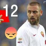 12 volte espulso in carriera con la maglia dell@OfficialASRoma! #DeRossi #RomaPorto https://t.co/hDaSvS3Qkj