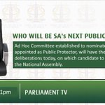 Live @ 1pm: Who will be SAs next Public Protector? Watch Ad Hoc Committee on #PublicProtector on #DSTV408 https://t.co/z25dJwE17p