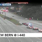 6:39a: Crash in median of New Bern at 440. #Raleigh #wral https://t.co/Kg818JLjp9