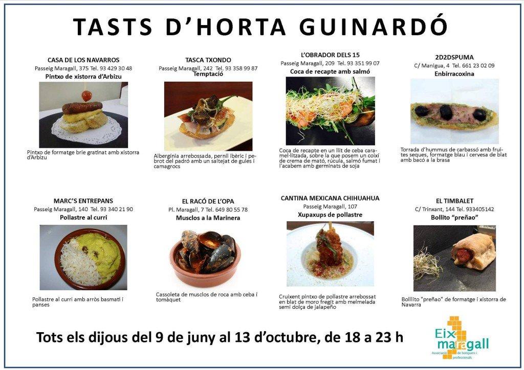 Continúan las Catas de Horta-Guinardó. Todos los jueves de 18h hasta las 23h, ofrecen tapa +bebida a a 1,95 euros. https://t.co/EwXk5n3Id4
