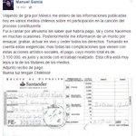 Nadie se acuerda q Manuel García ha cantado gratis en marchas y regalado tertulias musicales en distintas ciudades👍 https://t.co/fL87SFiJ6M