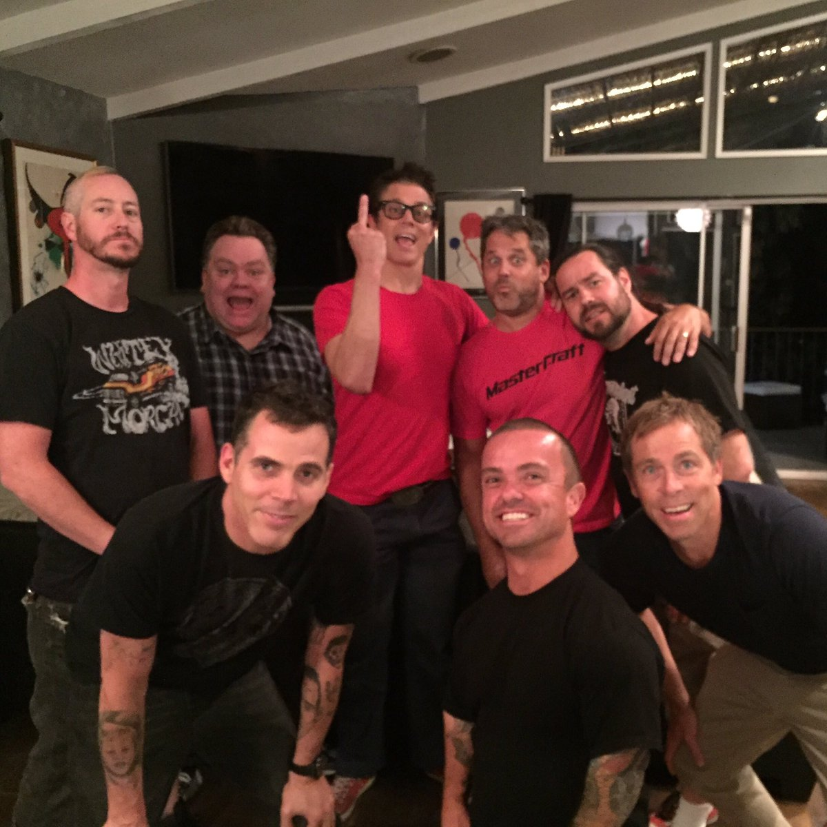 Me and the boys at Steve O's house tonight. First time in a long time. Too bad Bam is in Sweden, he was missed.❤️❤️ https://t.co/migRurXJXR
