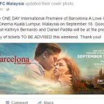 KathNiel will be at the premiere of Barcelona in Malaysia on Sept 18 #BarcelonaTrailerBukasNa #PushAwardsKathNiels https://t.co/zb8DO5oX4h