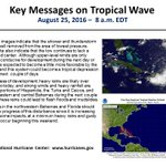 Key messages from NHC regarding tropical wave as of 8am EDT Thursday. https://t.co/tW4KeFW0gB #99L  @NHCDirector https://t.co/bgI5qPsm1Y