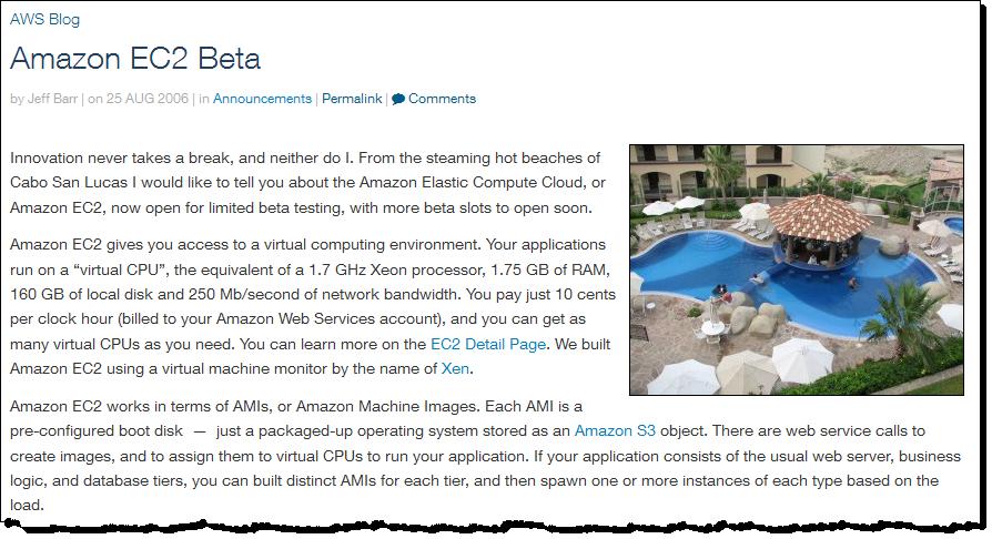 A decade ago today - Amazon #EC2 Beta - https://t.co/qIqIw5GcVU #CloudComputing https://t.co/4kreGCxrTs