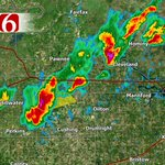 Severe t-storm east of Stillwater moving NE - 60 mph winds & small hail. #OKwx #NewsOn6 https://t.co/2hgcwk6OnD