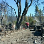 Maughs familys burned property in Yreka. 15 classic cars burned and the house is a total loss. #gradefire https://t.co/RmZr3HawIm