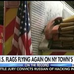 A big win for patriotism! American flags are flying once again on Arlington, NY fire trucks! –OTR #greta @FoxNews https://t.co/xgEweAHQ7M