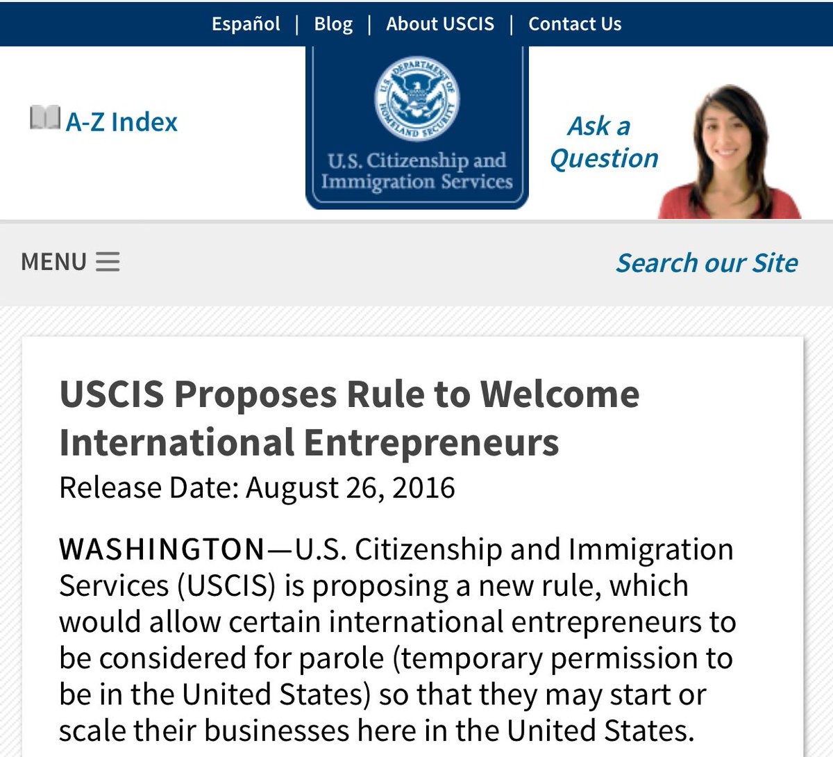 After years of discussion and advocacy from many, USCIS just proposed a startup visa: https://t.co/I6dDu7YtZo https://t.co/E0UF3eYJKO