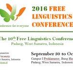 The 10th Free Linguistics Conference https://t.co/hKUMl6L6YS  https://t.co/AdzOglaHrc