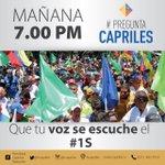 Mañana 7 pm por todas nuestras redes #PreguntaCapriles Respondiendo sus preguntas sobre la #TomaDeCaracas https://t.co/U2c4QP4Uvz