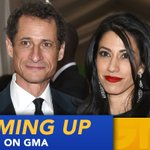 COMING UP ON @GMA: Huma Abedin announces split from Anthony Weiner https://t.co/TF2JNnBTL2