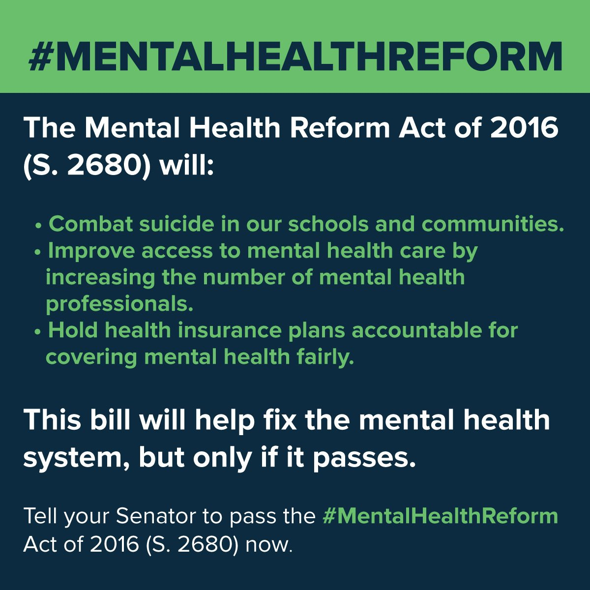 10%+ of people seeking mental health treatment are homeless. Ask your Senators to vote for #MentalHealthReform. https://t.co/vBWctHoonB