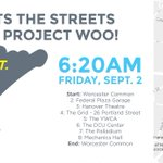 #NP_WOO #PopUp3 Run @POWWOWWorcester this FRIDAY! Meet @ 6:20 am on Worcester Common. Run the circuit. See some art. https://t.co/HZ8leeFvSe