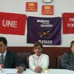 Hoy UNE de #Azuay dio una rueda de prensa y confirmó que seguirá en vigilia en su edificio en #Cuenca @mercurioec https://t.co/CpchPBWb8H