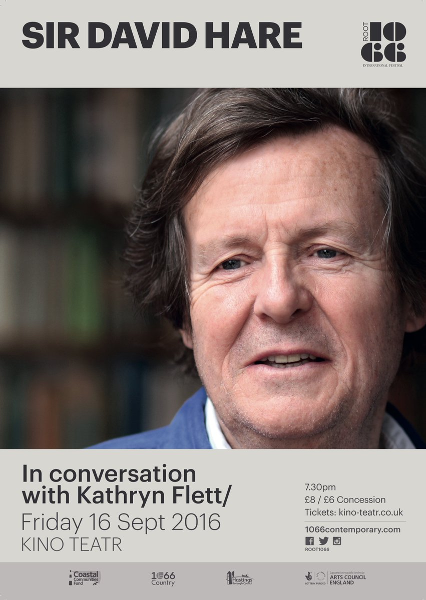 Am VERY much looking forward to doing this event with *local lad* Sir David Hare, as part of fab @ROOT1066 festival https://t.co/2mH909YfGs