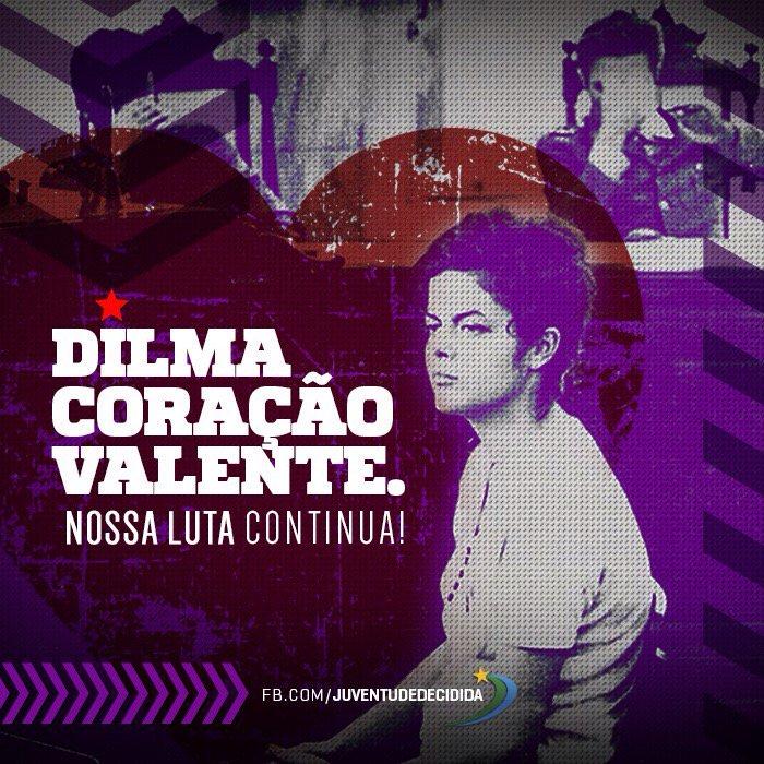 Hoy más que nunca, junto a #DilmaRousseff https://t.co/2Ikpqh39kD