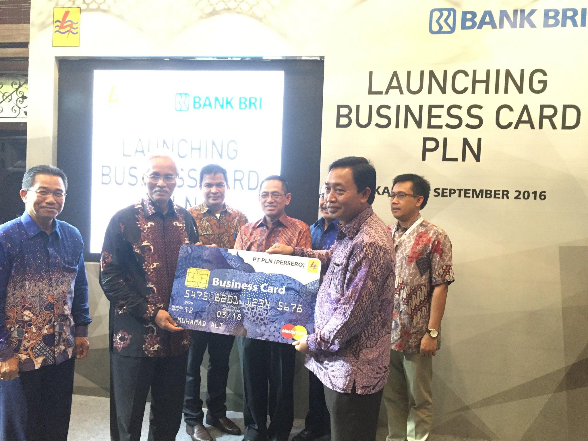 BANK BRI Luncurkan Kartu Bussiness Card PLN,Kerjasama ini merupakan salah satu perwujudan sinergi perusahaan BUMN. https://t.co/58g9esYLmc