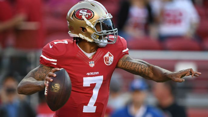Kaepernick's jersey goes from 20th to first in sales on 49ers website https://t.co/Rw4Y1DRwFE https://t.co/NzGT7H36YO