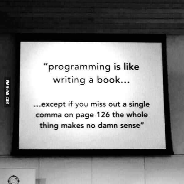 Programming is like writing a book... (via @9gag) #devhumor https://t.co/BWQVmFCxer