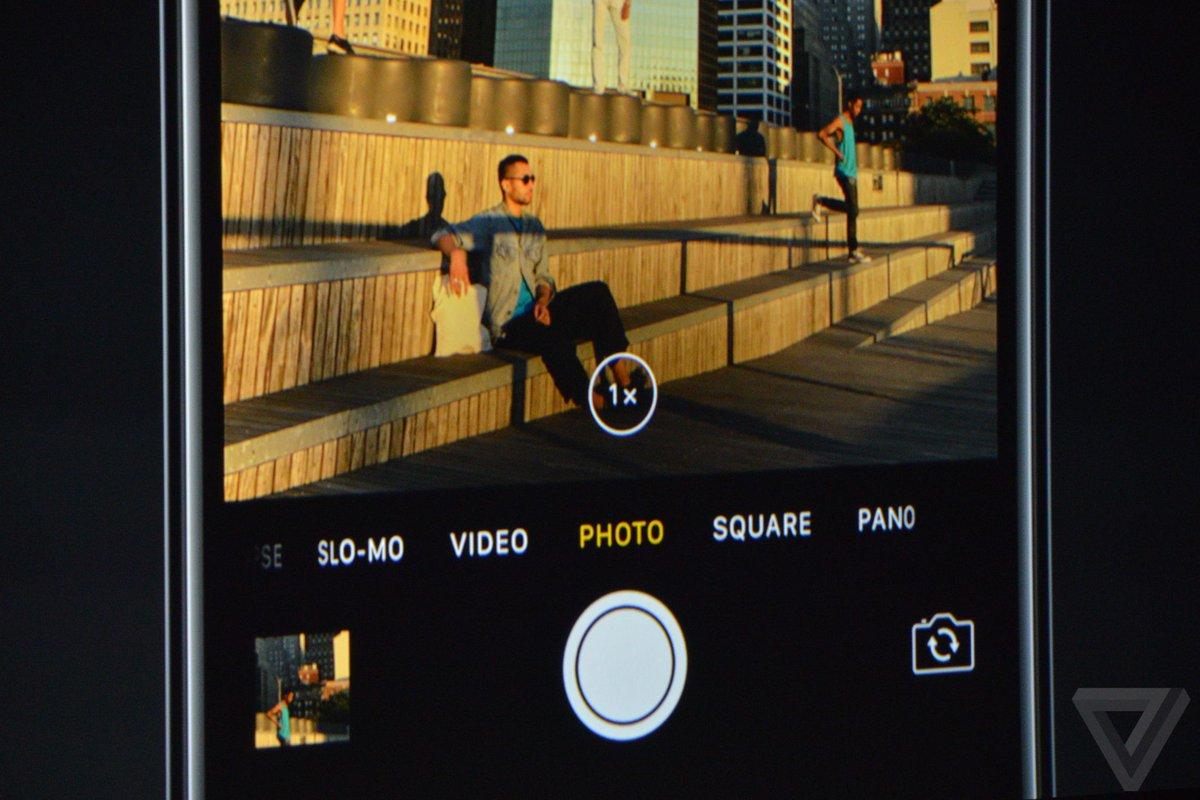 หมดปัญหาการซูมแล้วภาพแตก !!! ตอนนี้สามารถซูมได้ถึง 2 เท่า โดยที่ภาพไม่แตก #AppleEvent #iPhone7TH #iMod https://t.co/Frs8WXqjVg
