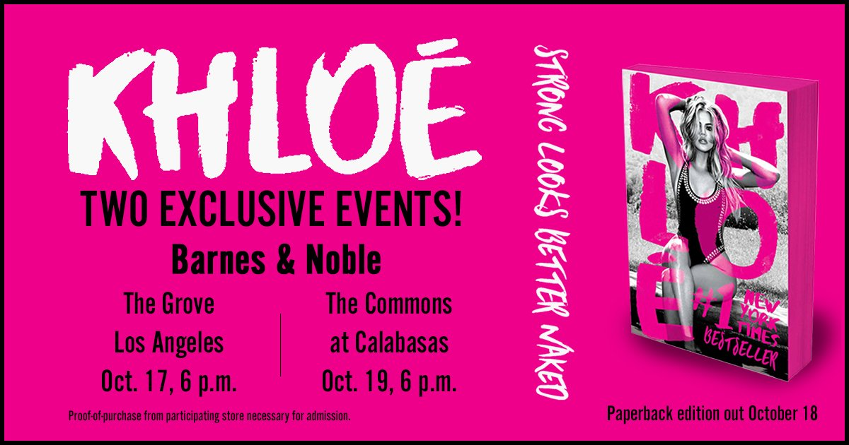 Excited to announce my 2 signings for #StrongLooksBetterNaked at @BNBuzz! 10/17 at The Grove & 10/19 in Calabasas https://t.co/T1c0MBilZv