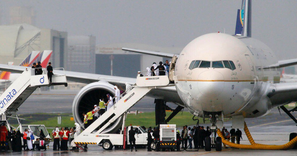 Saudi Arabian Airlines pilot accidentally pushes hijack alert button twice before