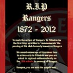 There will be a minutes applause in celebration of the death of Rangers when Aberdeen play Rangers on Sunday... https://t.co/eVils4f00f