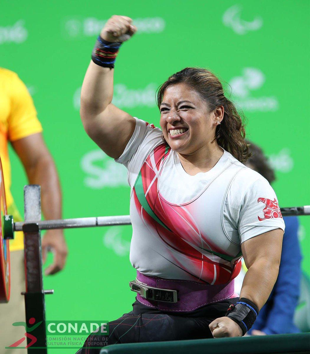 #RioXCONADE Consigue Amalia Pérez #oro con récord mundial de 130kg, en división de -55kg #Powerlifting #Rio2016 https://t.co/OB3oWoBuys