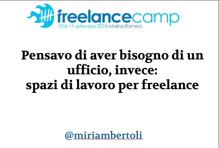 Slide e video del mio intervento al #freelancecamp di ieri https://t.co/Wz9xdeUyaQ + https://t.co/p1Y7tyYBb8 https://t.co/cYAS1wvLNi
