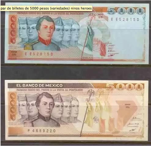 El billete de $5000 es el único que se ha repetido dos veces @asilascosasw @somos_arca  #niñosheroes https://t.co/eGOphi9YoD